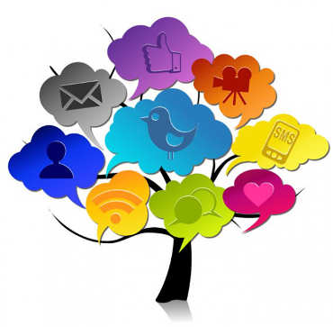 Image to symbolise social network advertising on facebook and other social media